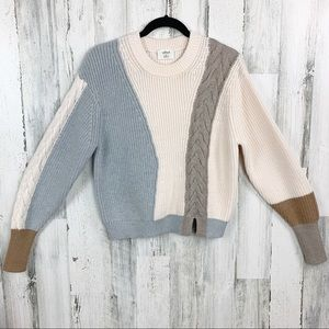 Aritzia Wilfred 100%Merino Wool Cable Knit Sweater